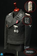 DID 1/6 Scale Obersturmbannführ  German Officer Action Figure Black Uniform Set