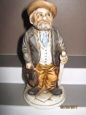 Ceramic figurine old man no 5 standing with stick size 140 to 185 mm ex/cond