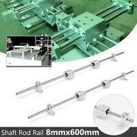 2Pcs 8mm 600mm Shaft Rod Rail Linear W/ 4Pcs SCS8UU Bearing Block 3D Printer CNC