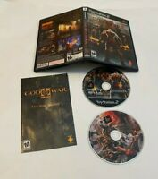 God of War II (Sony PlayStation 2, 2007) TWO DISCS SET COMPLETE W/MANUAL PS2