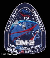 AUTHENTIC DM-2 First Crewed Flight SPACEX - Original AB Emblem NASA SPACE PATCH