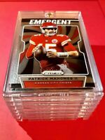 Patrick Mahomes PANINI PRIZM HOT EMERGENT INSERT CHIEFS CARD 2019 #E-PM - Mint!