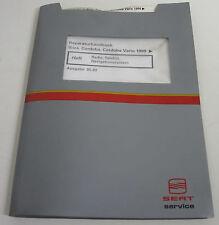 Werkstatthandbuch Seat Ibiza Cordoba Vario Radio Telefon Navigationssystem 1999!
