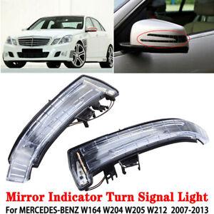 2X Door Mirror LED Indicator Turn Signal Light For Mercedes Benz W204 W212 W164
