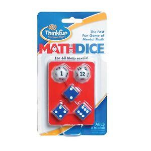 Math Dice by Thinkfun   Fun Mental Maths Game   Maths Resource and STEM Toy