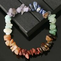 7 Chakra Healing Bead Bracelet Natural Stone Crystal Chipped Women Jewelry Gift