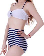 Women Vintage 50s Pinup Girl Rockabilly High Waist Retro Bikini Swimsuit