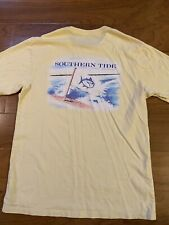 Mens Southern Tide T-Shirt Yellow Small