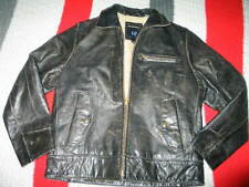 GAP Men's Distress Thick leather Black Leather Jacket Small
