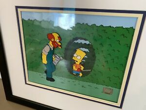 The Simpsons ORIGINAL ANIMATION FRAME TREEHOUSE OF HORROR V  SCREEN USED CEL