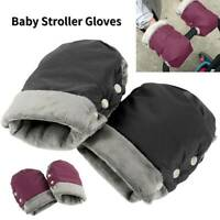 Winter Mittens Pram Pushchair Warm Gloves Hand Muff Waterproof Stroller Glove UK