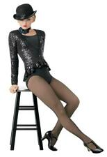 Dance Costume Small Adult Black Sequin Jazz Tap Musical Theater Weissman Solo