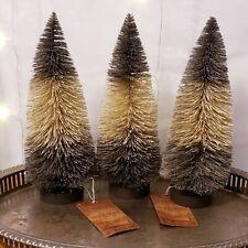 """Ragon House Black & White Bottle Brush Trees 10"""" for Halloween Christmas Nwt's"""