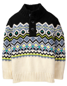 NWT Gymboree Boys GALACTIC WINTER Sz 2T Fair Isle Sweater
