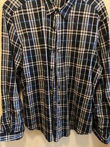 Burberry Brit Plaid Shirt Long Sleeve Large L Mens