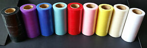 "6""x25 yard TULLE ROLL solid colour, tutus, crafts, wedding decorations UK SELLER"