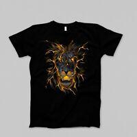 Lion Print Tshirt 100% Ring Spun Cotton-Premium