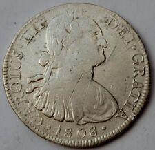 Mexico Colonial, 8 Reales 1808 TH - Carlos IV, Silver crown
