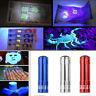 UV Ultra Violet 9 LED Flashlight Blacklight Detect Inspection Mini Torch Lamp