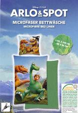 ARLO & SPOT Mikrofaser Bettwäsche 135x200cm Disney Pixar Good Dinosaurier grün