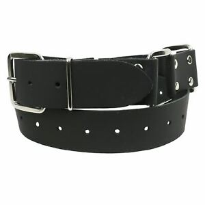 38mm Handcuff Bondage Leather Studded Mens Jean Belt B875
