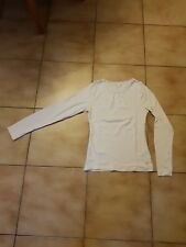 T-shirt blanc ML pour fille en 14 ans en TBE