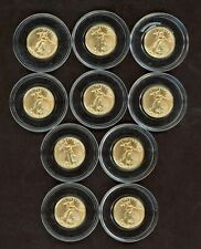 Lot of (10) 2020 Gold Eagle 1/10 oz Fine Gold Coins $5 St Gaudens G$5