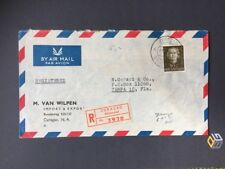 Registrierter Luftpost Airmail Brief NL Antillen Curacao nach Tampa Fla. 1955