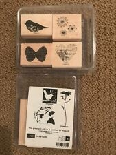 Stampin Up.....OF THE EARTH Wood NEW!  Rubber Stamp and More!
