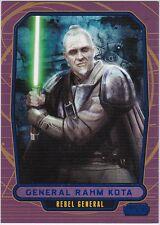 STAR WARS GALACTIC FILES SERIES 1 BLUE PARALLEL #190 GENERAL RAHM KOTA 212/350