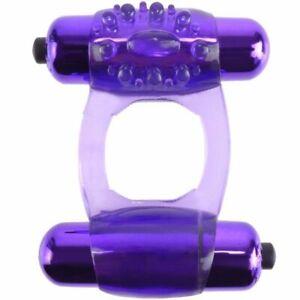 Fantasy C-ringz Super Double Cock Vibrating Penis Ring Purple Stimulator Couple