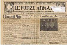 GIORNALE LE FORZE ARMATE N° 1472/1939
