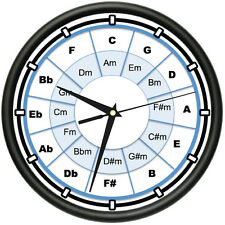 THE CIRCLE OF FIFTHS Wall Clock music musician piano artist gift
