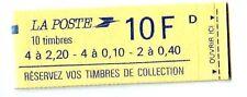TIMBRE VARIETES : LIBERTE : 0,10 BRUN 0,40 BRUN 2,20 ROUGE De carnet L65C