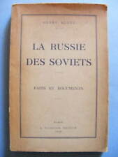 Henry Klotz La Russie des Soviets Faits et Documents Editions Fournier 1928 URSS