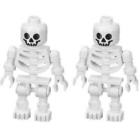 LEGO LOT OF 2 SKELETON MINIFIGURES SWIVEL ARMS - CASTLE PIRATE LOTR POTTER NEW