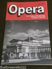 OPERA MAGAZINE - PROFILE OF JAMES KING - JULY 1986