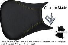Amarillo Stitch 99-02 Custom Fits Yamaha 600 Yzf R6 real de piel cubierta de asiento