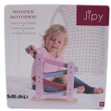 Jipy Autobahn Holz Kugelbahn Kinderspielzeug Autorennbahn  in Rosa
