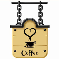Coffee Cups Cafe Tea Quote Wall Stickers Decal DIY Kitchen Home Decor Usable
