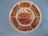 Fair Winds Brown Dessert Fruit Sauce Bowl Alfred Meakin USS Portsmouth Fort (O3)
