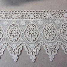 "Antique Style  Embroidery Cotton Crochet Lace Trim 5.9""(15cm) Wide 1Yd"