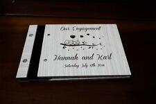 PERSONALISED guest book, wedding party engagement two cute owl a5 size