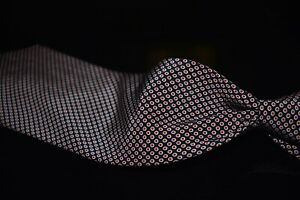 Polo Ralph Lauren Hand Made Navy Jacquard Red Fisheye Bubble Spotted Silk Tie NR