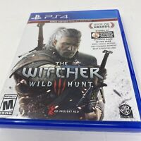 The Witcher 3: Wild Hunt (PlayStation 4, 2015) W/ Map