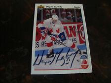 1991-92 Upper Deck Hockey---#13 Wayne Gretzky---Autographed (681/999)---COA