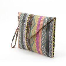 Women Ethnic Geometric Envelope Clutch Handbag Purse Classic Phone Bag Gracious
