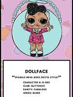 LOL SURPRISE DOLL BLING GLITTER SERIES - DOLLFACE