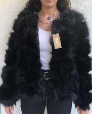 manteau d hiver femme en fausse fourrure noir manche longue