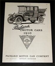 "1910 OLD MAGAZINE PRINT AD, PACKARD MOTOR CARS ""ASK THE MAN THAT OWNS ONE"" ART!"
